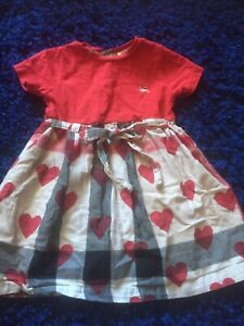 Burberry Classic Check And Love Hearts Dress 18 Mths