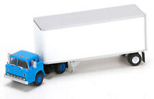 Athearn Ho Scale Ford C w/ 28' Smooth Truck Trailer Owner/Operator (Blue Cab)