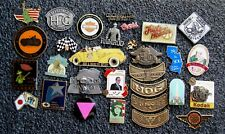 """""""Used"""" 30 Harley Hog Usa Mda Dip Dot Chapter State Mileage Button Misc. Pin Lot"""