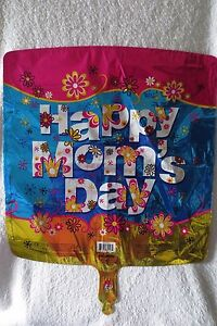 Happy Mother Day Mylar Balloon Floral Print 18 in Square New