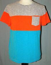 Tony Hawk Adult Large Light Blue Orange Gray T-Shirt (L Skate Skateboard Champ)