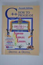 C++ How to Program by Harvey Deitel & Paul Deitel (1998, Paperback) Second Editi
