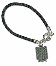 OFFICIAL ATTACK ON TITAN SCOUTING REGIMENT SYMBOL BRAIDED BRACELET *NEW*