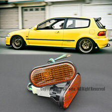 92-95 Civic Smoke Amber Flat Side Marker Lights OE Fender JDM Type R Mugen SI