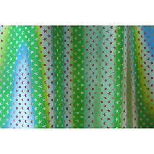 Lenticular Fabric Red White Star Green White Color-Changing #SH-R012G#