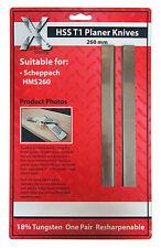 Scheppach HM2 HSS 260mm Re-sharpenable Planer Blade Knives