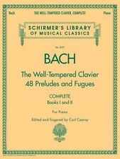 The Well-Tempered Clavier Complete Sheet Music Schirmer Library of Mus 050485898