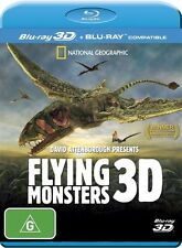Flying Monsters 3D David Attenborough (Blu-ray, 2012) Region A, B, C - New