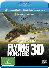 Flying Monsters 3D David Attenborough (Blu-ray, 2012) Brand New Region Free