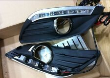 LED DRL DayTime Running Light REPLACEMENT FOG GRILLE For Ford Focus 2009-2011