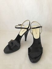 PRADA 5 INCHES PATENT BLACK HILLS.  SIZE 39 or 9. INSIDE LENGTH 10.1/4""