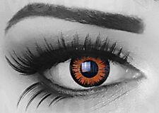 Farbige Kontaktlinsen 12 Monatslinsen ohne Stärke farbig Halloween rot weiß blau
