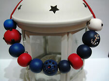 Polymer Clay Beads Necklace - Nautical