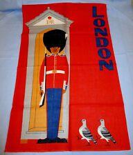 NEW Royal Guard ER London UK Souvenir Tea Towel Irish Linen NOS!