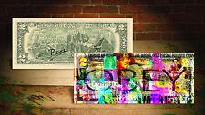 THE WALKING DEAD TV * OBEY * U.S. $2 Bill - HAND SIGNED by Artist RENCY * Banksy