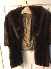 1960s Dark Brown mink fur stole Purchased In Ca.