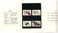 Tuvalu 1991 Insects Set Of 4 In Presentation Pack Mint Never Hinged Beetle Moth