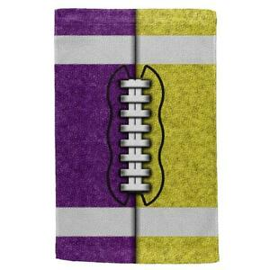 Fantasy Football Team Purple and Yellow All Over Sport Towel