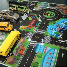 2pcs 70*70CM Kids Toys City PARKING LOT Roadmap Map DIY Car Model Toy EevA