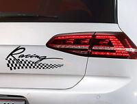 Racing Flag Aufkleber Auto Tuning Motorsport Sticker JDM KFZ Decal 22,5 cm