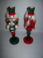 """Bombay Company 10""""  RARE Holiday Nutcracker Taper Candlesticks/Holders 1994"""
