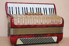 Accordion Hohner Concerto IV 120 Bass LMM Red Akkordeon Fisarmonica + Case