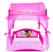 Canopy Toddler  Bed Disny Princess Little Girls  Side Rails New Pink