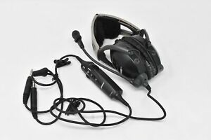 Untested Bose X Aviation AHX-32-01 Dual GA Plugs Airplane Pilot Headset In Case