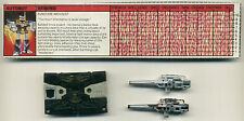 REWIND; 1986 Hasbro; G1 Vintage Transformers; AS IS scrap for parts or repair
