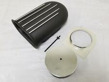 "14"" BLACK Aluminum Hilborn Style 4 Barrel Carb Finned Air Cleaner Hood Scoop Kit"