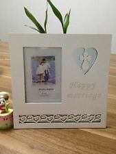 """""""4 X 6"""" PICTURE PHOTO FRAME GIFT WEDDING ANNIVERSARY Marriage occasion FRIENDS"""