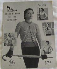 Vintage Knitting Book PATONS 423 Circa 1940 Women's Twin Sets