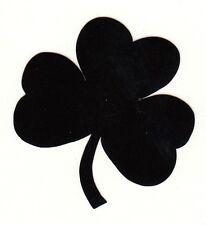 Reflective Black Notre Dame Fighting Irish shamrock 1.75 inch fire helmet decal