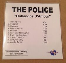 The Police - Outlandos D'Amour 10 Trk UK Acetate Promo Cd Ultra Rare Sting 2003