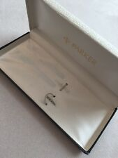 VINTAGE PARKER METAL FOUNTAIN PEN BOX-VERY GOOD USED CONDITION-BOX ONLY.