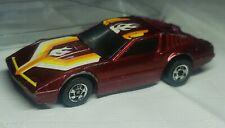 1983 Hot Wheels Crack-ups Crash Series Burgundy / Red Hong Kong