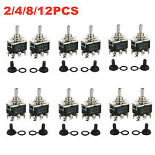 Waterproof 6pin Dpdt Momentary Toggle Switch Boot Cap Onoffon Amp 15a 380v