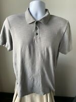 Vince Men's Shirt Polo Solid Gray Size Large (L)