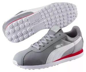 PUMA Turin NL Mens Sneakers 362167 06  Grey White Stripe SIZE 11.5