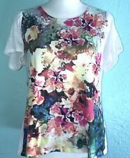 Coldwater Creek Floral Tee Anthropologie Boden Size Large Sundance Kid