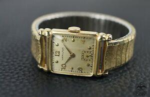 Hamilton Mechanical 14k Gold Filled Case 19J 982 Men's Watch Expansion Band