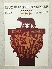 FANTASTIC 1960 ROME OLYMPICS POSTCARD - OTHERS YEARS AVAILABLE FROM AUSTRALIA