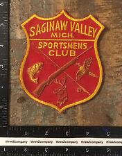 Vintage Saginaw Valley Sportsmens Club Michigan Hunting Fishing Patch Twill
