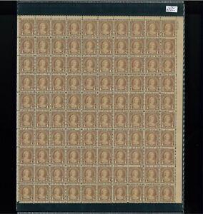 1927 États-unis Envoi Tampon #636 Plaque Numéro 18083 Mint Complet Feuille