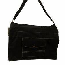 Brand New Ripstop Messenger Bag Full Size Large Messenger Shoulder Bag - Black