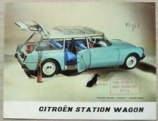 CITROEN ID 19 STATION WAGON Car Sales Brochure For 1961 #10.057 4-60
