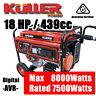 NEW KULLER 18HP 8000w Max/7500w Rated Backup Generator Single-Phase Petrol