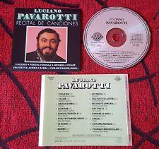 LUCIANO PAVAROTTI ** Recital de Canciones ** ORIGINAL 1990 Spain CD