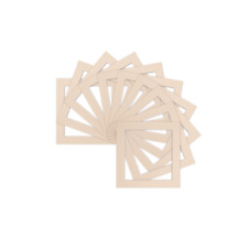 Pack of 5 Square Picture Mounts Frames Mount - Various Sizes White Ivory Black