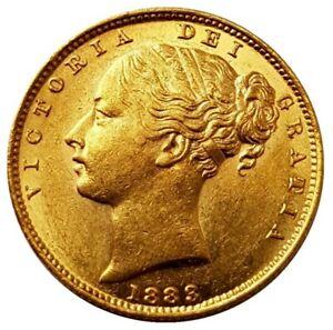 1883-S Queen Victoria Shield Reverse Sovereign - SUPERB AUNC